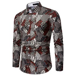 $enCountryForm.capitalKeyWord UK - New 2019 Men Long Sleeve Graffiti Painting Large Size Casual Top Blouse Shirts High Quality Fashion Dropshipping