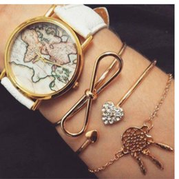$enCountryForm.capitalKeyWord NZ - New Fashion Jewelry Crystal Love Bow Dream Catcher Bangle Set Bracelets For Women Girl Gift Bracelets Bangles Wholesale