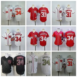 7e7c518d9 Top Quality Custom Washington 31 Max Scherzer 34 Bryce Harper Nationals  Stitched Baseball Jerseys
