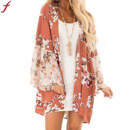 Kimonos for women online shopping - Blouse Woman Fashion Women Casual Floral Print kimono cardigan long shirt for women Autumn Long Sleeve Shirt blusa