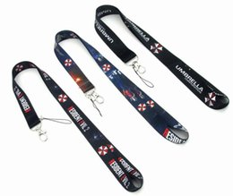 $enCountryForm.capitalKeyWord UK - new product 20pcs Resident Evil Umbrella Neck Strap Lanyard Mobile Phone Strap ID Badge Holder Rope Key Chain Key