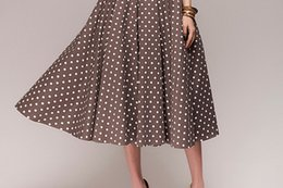 Club swing online shopping - 2019 spring and autumn spot new European and American sexy retro retro wave point sleeveless big swing dress long skirt a generation