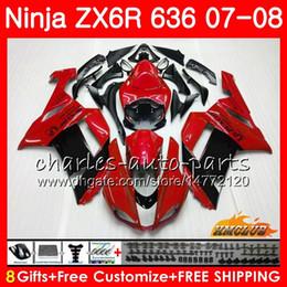 $enCountryForm.capitalKeyWord Australia - Bodywork For KAWASAKI NINJA ZX 636 600 CC ZX-636 ZX6R 07 08 34HC.117 ZX600 red black hot ZX 6R 6 R 600CC ZX-6R 2007 2008 ZX636 07 08 Fairing