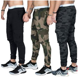 hot boy black trouser 2021 - HOT 2020 outdoor sport joggers Training GYM camouflage hip hop Men straight trousers man cotton summer thin boys track pants