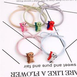 hair fly NZ - ins head rope dinosaur flying elephant hair Ring children's hair accessories high elastic rubber rubber band band