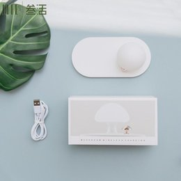 $enCountryForm.capitalKeyWord Australia - Qi Wireless Charger w  Sensor Induction Lamp Touch-control Silicone Mushroom Night Light Wireless Charging Pad for iPhone Xs Max