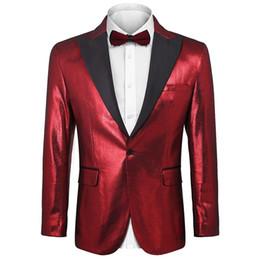 $enCountryForm.capitalKeyWord UK - Fashion Men Fashion Notched Long Sleeve Glitter Single Button Blazer