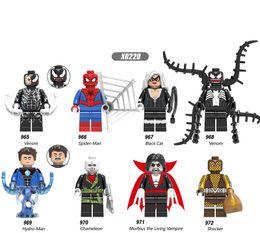 Spiderman Block Figures Australia - Building Blocks Venom Super Heroes Action Deadpool Avengers Spiderman Model Action Figures Bricks For Children Gift Toys X0220