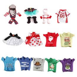 $enCountryForm.capitalKeyWord Australia - 2019 Hot 21 styles Christmas Elf Clothes 50PCS Xmas Dolls Accessories shelf toy gift For Kids Holiday Christmas New Year Gift