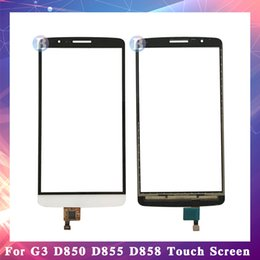 "lg white screen NZ - 10Pcs lot High Quality 5.5"" For LG G3 D850 D855 D858 Touch Screen Digitizer Sensor Outer Glass Lens Panel Black White Gold"