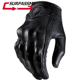 $enCountryForm.capitalKeyWord Australia - Fashion Motorcycle Gloves Touch Screen Goatskin Leather Real Genuine Cycling All Season Moto Glove Men Racing Motorbike