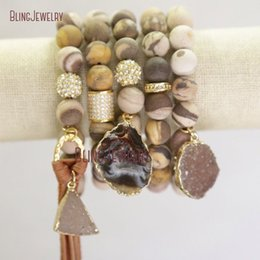 $enCountryForm.capitalKeyWord NZ - Australian Zebra Jaspers Beads Bracelets Tassel Bracelets Agates Druzy Charm Bracelets Bm21910 C19021501