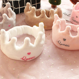 Hair Masks Australia - New Soft Cute Crown Hair Band Facial Mask Hairband Baby Bands Girl Women Hair Bands Wash Face