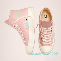 classic leather golf shoes UK - Classic Golf Le Fleur x Chuck 70 Chenille New Men Women Star Skateborad Shoes Fashion GLF 1970 High Pink Canvas Sneaker Size 36-44 c09