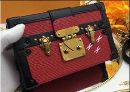 $enCountryForm.capitalKeyWord Australia - Red Petite Malle Box Evening Bags size 19*12*4cm style 94219 ,86286 Small Acrylic Purse Vintage clutch Leather Handbag Designer Trunk box