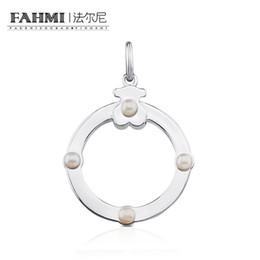 Moonstone diaMond online shopping - FAHMI Sterling Silver Elegant Pearl Pendant Sweet Necklace Pendant Female Original Women s Jewelry Gift