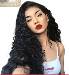 Best Curly Lace Wigs Australia - Unprocessed new best remy virgin human hair big curly long natural color full front lace wig for women