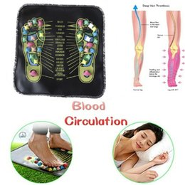 massager feet Australia - MOQ 1PCS Acupuncture Cobblestone Colorful Foot Reflexology Massage Mat Walk Stone Square Foot Massager Cushion for Relax Body