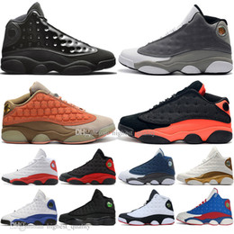 Discount black mesh caps - 13 13s Cap And Gown mens basketball shoes Atmosphere Grey Terracotta Blush Cat Black Infrared Flints Bred Chicago Phanto