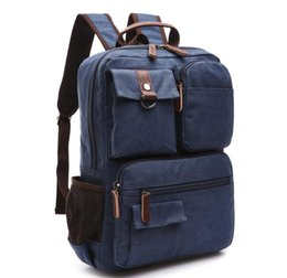 Backpack Canvas Bag Laptop UK - Scione Unisex Canvas Backpack School Rucksack Men Drawstring Backpacks Women Travel Shoulder Bagpack Teenagers Laptop Back Pack bags