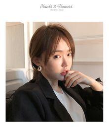 $enCountryForm.capitalKeyWord Australia - Taimei Jewellery Korean Personality Temperament Baitao Pearl Semi-circle Earrings Female Super Immortal French Advanced Sensory Ear Jeweller