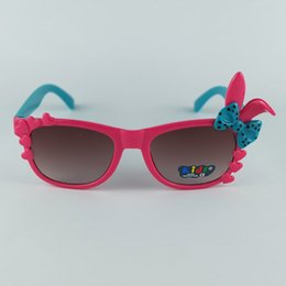 cute eyewear UK - Lovely Children Sunglasses Rabbit Bow Frame Kids Sun Glasses Cute Rabbit Design Eyewear UV400 10 Colors Wholesale