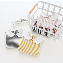 $enCountryForm.capitalKeyWord NZ - New Summer Baby T Shirt for Girls Kids Clothes Short Sleeve Striped T-Shirt Infant Princess Girl Clothes Bebes Toddler Tops Tee