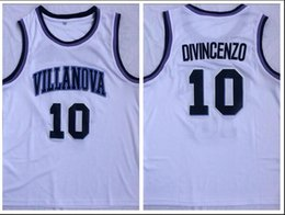 $enCountryForm.capitalKeyWord Australia - NCAA Villanova 10 Divincenzo White Embroidered Basketball Swingman Jersey S-XXL