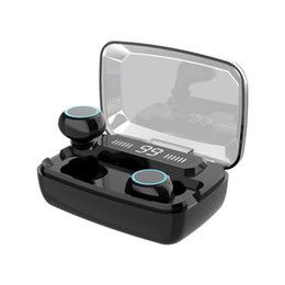 bluetooth headphones led NZ - M11 TWS Mini Earphone With LED Digital Display Touch IPX7 Waterproof Wireless Bluetooth Headphone With 1200MAh Charging Box