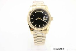 Men Watches Week Day Australia - 2019 Day Week Men's Watch Black Dial 18K Gold 36mm Date stainless steel clasp GD2836 Automatic Movement watch men wristwatch
