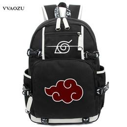Wholesale nude cosplay for sale - Group buy New Arrival Cartoon Naruto Backpack Anime Akatsuki Sharingan Printing Cosplay School Backpacks Laptop Shoulder BagsMX190903