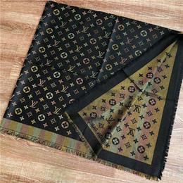 $enCountryForm.capitalKeyWord Australia - brand women's scarf luxury shiny gold thread wool yarn-dyed fashion men's and women's super size 140*140cm cotton scarf