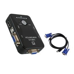 Vga port box online shopping - 2 In KVM Switch Switcher USB Ports VGA SVGA Switch Splitter Box For PC Computer Mouse Keyboard Box Adapter