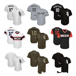 youth blank baseball jersey Australia - Men Women Youth ChicagoWhiteSox Jerseys 10 Moncada Blank Jersey Baseball Jersey Black White Grey Green Salute to Service Players Weekend hot