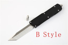 $enCountryForm.capitalKeyWord Australia - UT Double action D2 Blade Tactical Knife aluminum Handle Survival Rescue Automatic Outdoor Hiking Camping Utility Knives For Men J15M Y