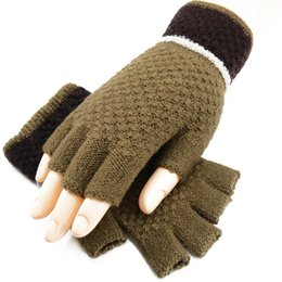 $enCountryForm.capitalKeyWord NZ - Colorful Unisexy Fingerless Fitness Gloves Warm outdoor Fingerless Knitted Gloves For Winter Autumn Spring DHL Free 50pcs