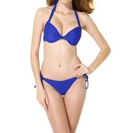 5073be20cce OBSSKY Women Sexy Swimsuit Bikini Two-piece Swimming Bathing Suit Swimsuit  Swimming Suit Sapphire
