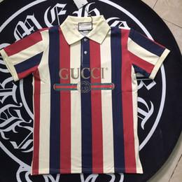 Solapa polo de manga corta para hombre Camisa polo a rayas de manga corta Camiseta de marca Diseñador de ropa S-XXL Casual Hombre Ropa de mujer S en venta