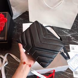 Cell phone purse pattern online shopping - 2019 TOP Quality Famous Brand Handbag Vintage Chain bag Cowhide Y Pattern Shoulder Purse size colors hot sales