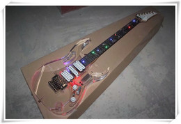 acrylic lighted electric guitar UK - Colorful LED Light Acrylic Body Electric Guitar with Floyd Rose Bridge,Rosewood Fingerboard,can be customized