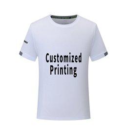 Custom Designed Clothing Australia - Men T Shirt Short Sleeve Sportswear Shirts Custom Logo Text Print Sport Shirt Men Women Dry Fit Clothing Personal Design Free Shipping