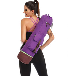 Wholesale dance bags for sale - Group buy 75 CM Yoga Bag Double Zipper Waterproof Multifunction Pocket Pilates Yoga Mat Bag Dance Mat Sports Knapsack Fitness Backpack Mat Case