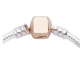 pandora silver rose gold plated bracelet NZ - Wholesale- Women Men Chain Bracelet Silver Charm Rose Gold bracelet bangle DIY beads fit Pandora Bracelet fine jewelry mujer pulseira