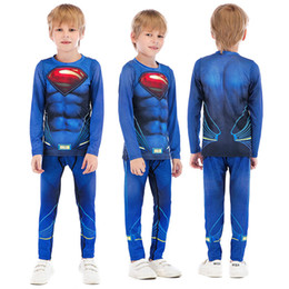 boys sport clothing set NZ - Children Fitness Tights Clothing Kids Boys Running Tracksuit Training Jogging Suits Sport Wear Clothes Compression Sets