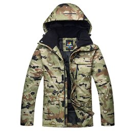 Waterproof Camouflage Clothing Australia - Camouflage Ski Jackets Men Snow Ski Jacket Windproof Waterproof Breathable Warm Male SMH Clothes Winter Men's Snowboard Jacket