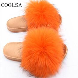 8c4f7016c42 Women s Summer PVC Home Plush Slippers Cute Raccoon Fur Slippers Ladies  Furry Women Fur Slides Shoes Customizable