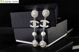 drop glass crystal beads Canada - chenfei4 KLHK clear Crystal pearl Punk bracelet earrings Jewelry With Box