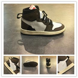 shoe linings Australia - Hot Boy girl youth 1s Kids basketball shoes off Top Quality Boys Girls Children Babys Reverse line sneakers summer MVP size 26-35