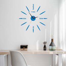 Digital clock numbers online shopping - European Number Digital Wall Clock Cartoon Design Silent Wall Clock Bedroom Hanging Clocks DIY D Wall Sticker Home Decoration