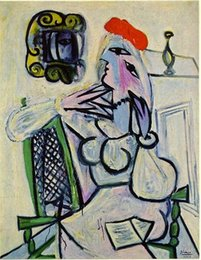 oil painting women red Australia - Pablo Picasso Classical Oil Painting Woman With Red Hat Femme Au Chapeau Rouge 100% Handmade By Experienced Painter On Canvas Picasso1070